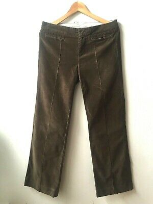 GAP Women Brown Retro Inspired Flare Corduroy Jeans UK 10 EU 40 U.S. 6