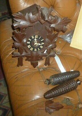 Vintage Black Forest Cuckoo Clock No Reserve