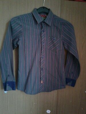 boys grey striped shirt age 10 years from ted baker used in good condition