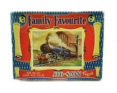 """Vintage """"FAMILY FAVOURITE"""" 400 pieces Jigsaw Puzzle Cornish Riviera Express"""