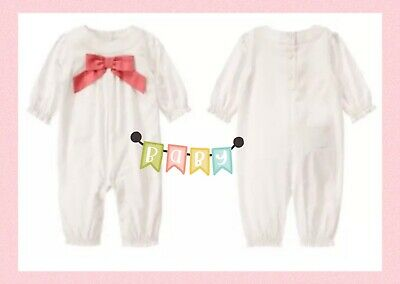 Janie And Jack Girl - Layette Bow one piece  12-18M