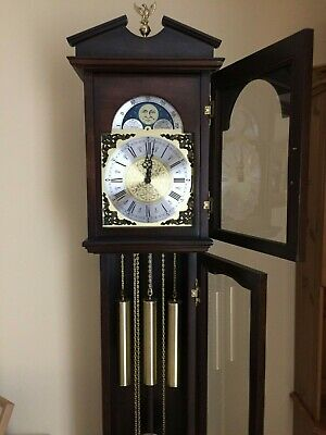Grand Mother Clock With Moon Phase Clock Face And Westminster Chimes