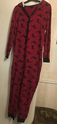 Topshop Women's/Girl's Stag Print All In One Hooded Pyjamas Size S