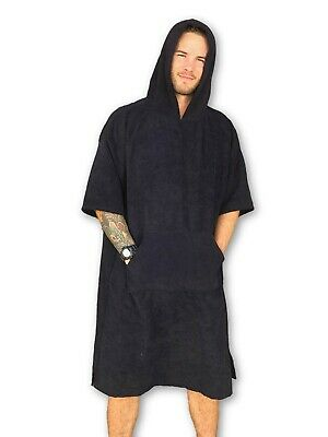Adult Portable Surf Beach Wetsuit Changing Towel Bath Robe Poncho with Hood