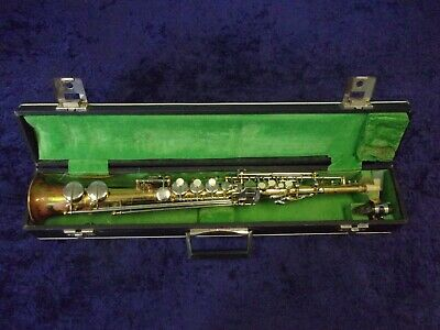 Quality! Vintage Caravelle Brittany Straight Soprano Saxophone Made In Italy