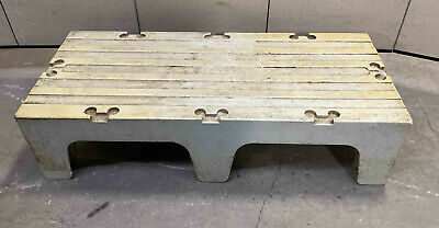 Cambro Dunnage Rack 48x21x12 plastic poly pallet