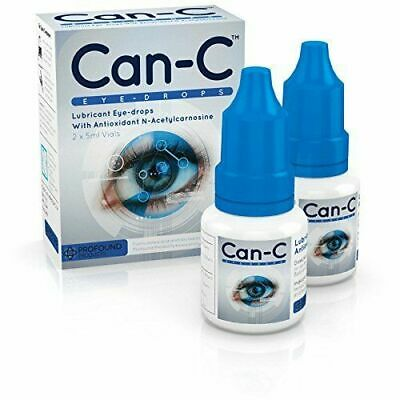 Can-C Eye Drops Lubricant Eye drops 2 x 5ml Vials (expiration date 08/2020)