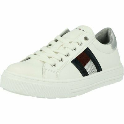 Tommy Hilfiger Trainer White Eco Leather Junior Sneakers Shoes