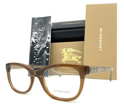 BURBERRY BE2213 3564 Brown Transparent  53mm Eyeglasses