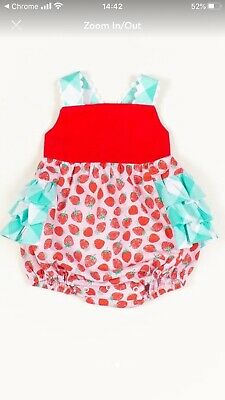 """Ricrac and Ruffles """"You're the Jam"""" Size 3T Bubble, New in Bag sold out online"""