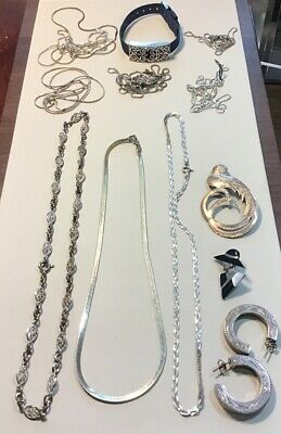 Mixed .925 Sterling Silver Jewelry Lot 12 Items