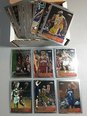 1996-97 Topps Chrome Rookie Card Set with Kobe Bryant RC