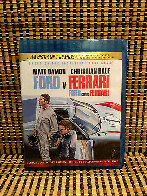 Ford v Ferrari (1-Disc Blu-ray, 2020)Christian Bale/Matt Damon.Dir<Logan>True