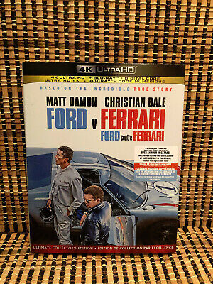 Ford v Ferrari 4K (1-Disc Blu-ray, 2020)+Slipcover.Christian Bale/Matt Damon