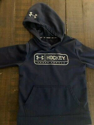 Under Armour Kids Hockey Hoodie Navy Youth Small S