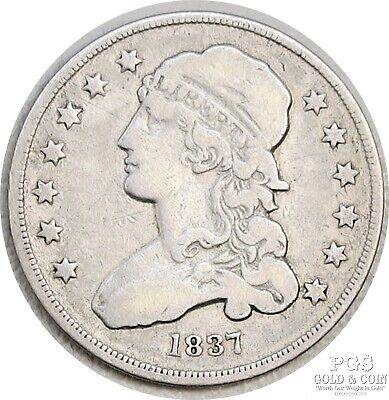 1837 Capped Bust Quarter .25c US Silver Coin 17569