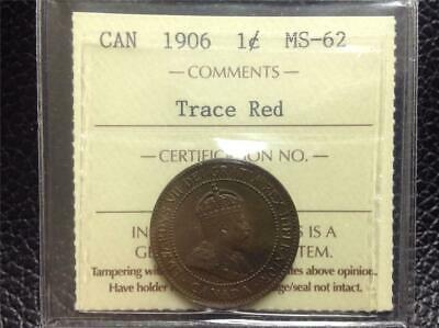 1906 - ICCS - MS-62 - Large Cent - Scroll down for all images