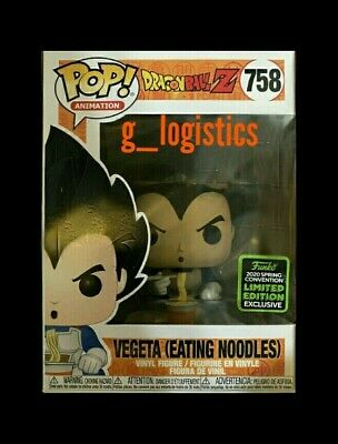 Funko Pop Vegeta Eating Noodles #758 Eccc 2020 Shared Exclusive. Pre-Order