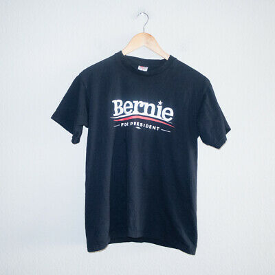 Bernie Sanders for President Black Windjammer Size Medium T Shirt