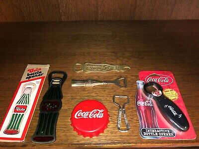 LOT of 6 Coca-Cola Coke Bottle Openers very nice condition