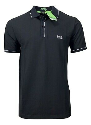 Hugo Boss Men's Paule Moisture Manager Polo Shirt - Slim Fit - Black