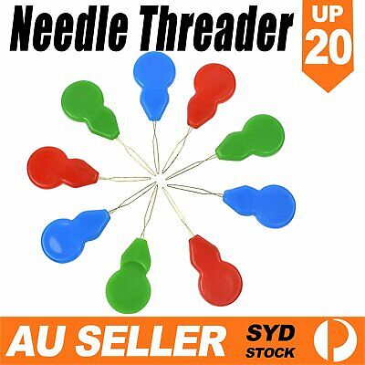UP 20x Needle Threader Stronger Than Other Plastic Brands Bow Wire Slivery Hand
