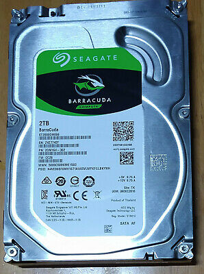 "2TB Seagate BarraCuda 3.5"" SATA Internal Desktop Hard Drive HDD 7200RPM 256MB"