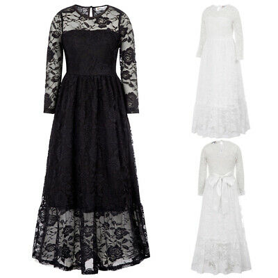 DB Girls Children Kids Floral Lace Dress Casual Birthday Party Pageant Dresses