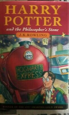 Harry potter and the philosopher's stone hardback. First  edition 4th printing.