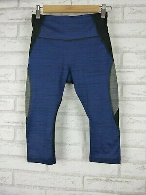 Lorna Jane Activewear Tights 3/4 Black, Blue, Grey Print Sz S?