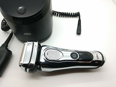 Braun Series 9 Wet/Dry Electric Shaver Chrome 9295CC w/ Charge Cleaning Station