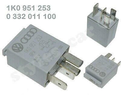 Genuine  Audi VW Seat Skoda 4-Pin Silver Relay-449  SN7  1K0951253  12V
