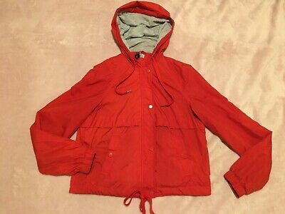 H&M Divided Womens Girls Ladies Cute Coral Red Hooded Jacket Coat Size Uk 6