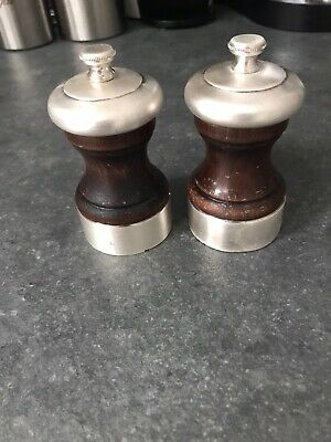Peugeot Freres Palace Wood And Silver Plated Salt And Pepper Mill