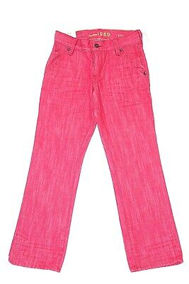 Gap Kids Boys Sz 7 Regular Pink 1969 Straight Leg Jeans New