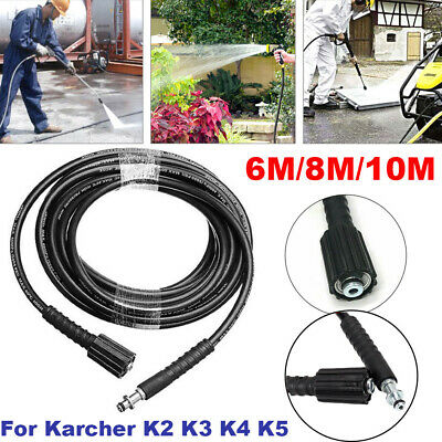 6/8/10m Replacement High Pressure Washer Hose Heavy Duty UK Jet Power Wash