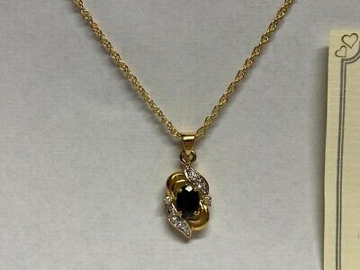 JobLot Wholesale 10 Giani  jewellery gold plated oval sapphire necklaces Pendant