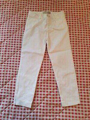 Zara Age 4 Soft Collection White Trousers Girls Slim Jeans B22
