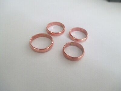 Copper Band Rings..(quantity of 4) Brand New..Never Worn  various sizes
