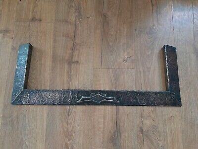 Vintage Hammered Copper Small Fireplace Fender Possibly Arts and Crafts Period
