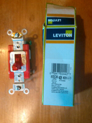 Leviton RED Toggle Switch NIB electrical lot 10 Switches