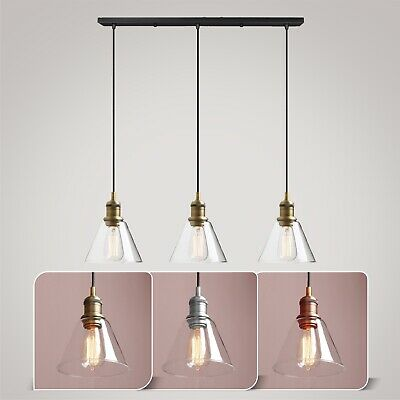 Modern Ceiling Pendant Light Shade Lamp Glass Lampshade Kitchen Lights Fitting