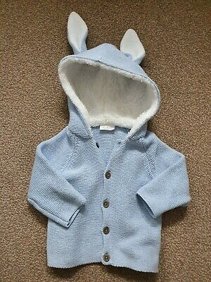 Next Baby Cardigan Boys/Unisex Bunny Ears Hood Size 6-9 Months Worn Once Unisex