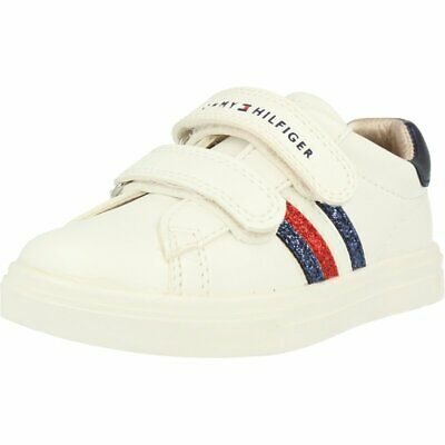 Tommy Hilfiger Trainer White Eco Leather Infant Trainers Shoes