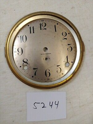 Antique Seth Thomas Tambour Mantle Clock Dial And Bezel No Glass 89