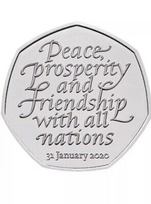 New Brexit 50p Coin 2020 Fifty Pence Rare Collectible UNCIRCULATED