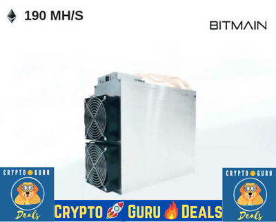 CryptoGuruDeals❗🙏🔥Used Bitmain Antminer E3 180MH/s  ETHASH Miner With PSU- USA