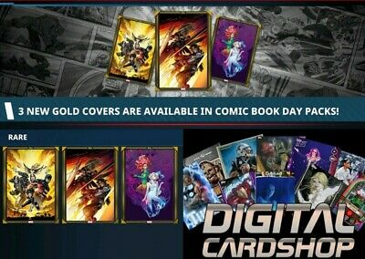 Topps Marvel Collect Card Trader COMIC BOOK DAY February 26 2020 3 Gold 1 Silver