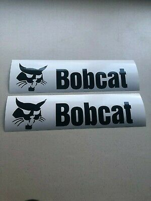 "Bobcat 12"" SET OF 2 Skid Steer Multi-Color Vinyl Decal Sticker"