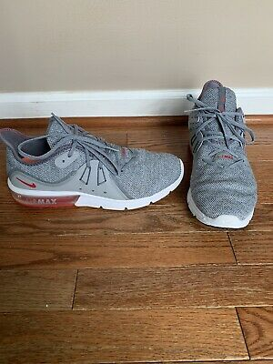 Details about Nike Air Max Sequent 3 Men's Running Shoes Gray Red White 921694 060 SZ 9.5
